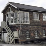 Date - 02/1978. Driffield. Photo Ref 119.The signalbox on Wansford Road just north of Driffield station in February 1978. It has long since been closed and demolished.©  Alan Lewis