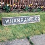 Date - 24/04/1994. Wharram. Photo Ref 153.This nameboard was from Wharram Goods groundframe.©  Alan Lewis