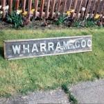 Date - 24/04/1994. Wharram. Photo Ref 153.This nameboard was from Wharram Goods groundframe.©  Alan Lewis