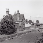 Date - 08/1960. North Grimston. Photo Ref 171.Looking towards Malton - Note the sleepers on the platform©  GNSRA Forrest Transport Treasury