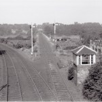 Date - 08/1960. Malton. Photo Ref 175.A View from Scarborough Road Junction. The line ahead goes to Gilling, while the two that curve to the left carry the Malton to Driffield line to Malton©  GNSRA Forrest Transport Treasury