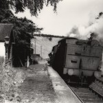 Date - 1958. Burdale. Photo Ref 8.A goods train waits in the station - view towards Malton©  A M Ross