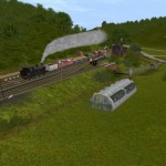 A very mixed goods train heads north through Burdale, based on the photo on page 44 of Warwick Burton's book.