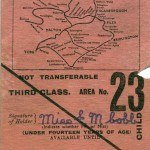 Date - 1936. Ticket. Photo Ref 91.LNER Holiday season ticket Rear. Notice the full map details all the stations.©  Alan Lewis