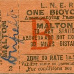 Date - Unknown. Ticket. Photo Ref 92.Malton bicycle ticket©  Alan Lewis