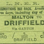 Date - Unknown. Ticket. Photo Ref 93.Malton to Driffield©  Alan Lewis