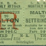 Date - Unknown. Ticket. Photo Ref 94.Malton to Settrington©  Alan Lewis