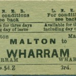 Date - Unknown. Ticket. Photo Ref 96.Malton to Wharram©  Alan Lewis
