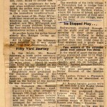Date - 1950. Newspaper Article. Photo Ref 161.The Big Freeze newspaper artice 1950 including a paragraph on Fimber and Sydney Lowe.  Sydney is the Grandfather of Justin Lowe, who has kindly allowed this photo to be reproduced on our site©  Unknown