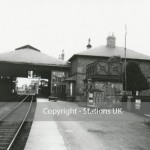 "Date - 1930. Driffield. Photo Ref 361.Another superb photo showing the overall roof. Also note the wonder enamel sign on the right of the photo reading ""Driffield Junction""©  Stations UK - Neg ref RRP09"