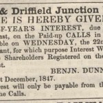 Date - 04/12/1847. Newspaper Article. Photo Ref 363.Outlining initial interest©  Unknown - Thanks to A Barwick for supplying