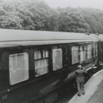 Date - 06/07/1948. Sledmere and Fimber. Photo Ref 329.Look closely at the right of the photo, and you will note that the Royal party is making is way down the platform©  Fimber Village