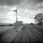 Date - 1956. Garton. Photo Ref 392.Photographed from the brakevan of the pick-up freight after leaving the station.©  A M Ross