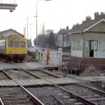 Date - 20/05/1987. Driffield. Photo Ref 366.The diminutive signal box that used to feature on the Hull end of the Scarborough platform was removed totally the following day©  Phil Robson