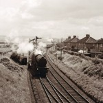 Date - 08/1962. Malton. Photo Ref 400.Scarborough Road Junction. A V2 2-6-2 on Saturdays only summer express from Scarborough to the north, routed via Gilling. Photographed from the signal box steps.©  A M Ross