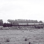 Date - 08/1962. Malton. Photo Ref 401.B1 4-6-0 on Saturdays only summer express from Scarborough to the north, routed via Gilling.  Climbing away from Scarborough Road box towards Amotherby©  A M Ross