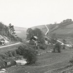 Date - 18/04/1961. Burdale. Photo Ref 420.Taken from the road up to the summit of Burdale tunnel, Burdale station can easily be seen soon after track lifting©  Ben Brooksbank