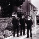 Date - 1935. Wharram. Photo Ref 320.L-R Station Master Thomas Sleightholme with porter-signalmen Burton and Webster©  W R Burton Authors Collection