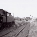 Date - 25/05/1961. Malton. Photo Ref 196.M2 41251 picking up goods from the bacon factory - by now the rest of the line to Driffield is well into the process of being lifted©  Doug Hardy