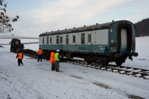 First item of rolling stock welcomed at Yorkshire Wolds Railway