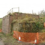 Date - 22/11/2009. Wharram. Photo Ref 372.The bridge abutments that carried the line from Malton into Wharram Station can just be made out. The abutments where demolished shortly after©  Phil Robson