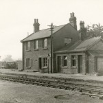Date - Unknown. Settrington. Photo Ref 592.The station. The wall ends on the right of the photo used to display timetables and other notices©  Mrs Wray