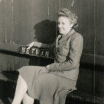 Date - 1947. Wetwang. Photo Ref 668.Molly Sims (nee Harben) taken on the platform. Molly is the daughter of the Porter Signalman from Wetwang©  Molly Sims