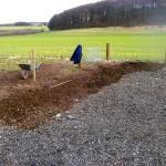 Digging commences